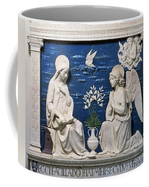 15th Century Coffee Mug featuring the painting Della Robbia: Annunciation by Granger