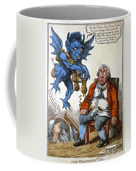 1814 Coffee Mug featuring the painting Cartoon: John Bull, C1814 by Granger