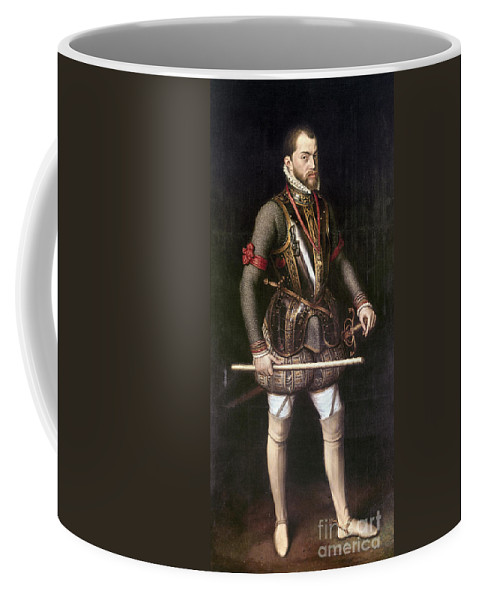 1557 Coffee Mug featuring the painting Philip II Of Spain (1527-1598) by Granger
