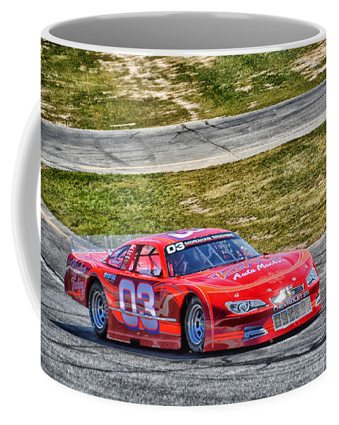 Motorsport Coffee Mug featuring the photograph 03 Rad Auto Machine by Mike Martin