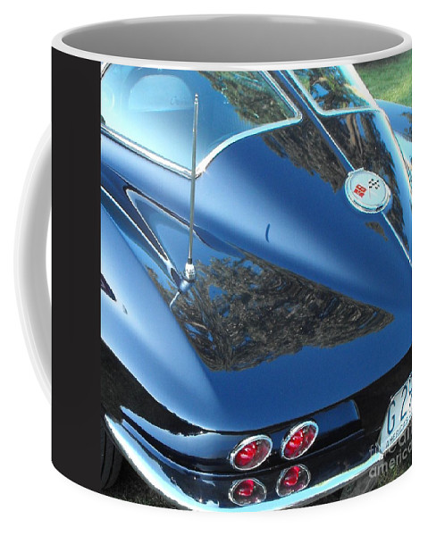 Stingray Coffee Mug featuring the photograph 1963 Corvette by Neil Zimmerman