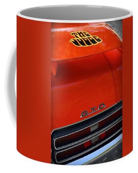 1967 Coffee Mug featuring the photograph 1969 Pontiac Gto The Judge by Gordon Dean II
