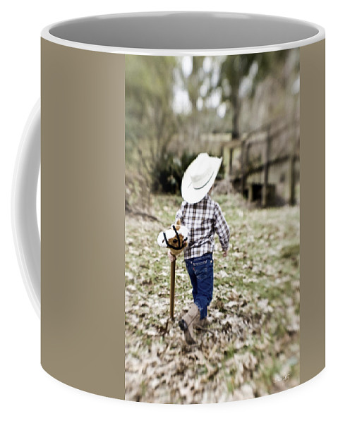 Boy Coffee Mug featuring the photograph A Boy and his Horse by Scott Pellegrin