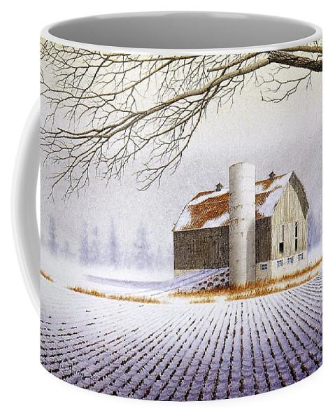 Rural Coffee Mug featuring the painting A Far Distant Feeling by Conrad Mieschke