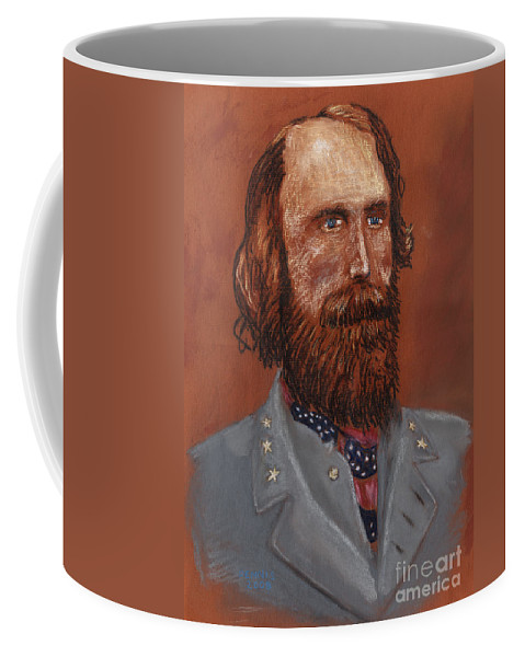 Civil War Coffee Mug featuring the drawing A. P. Hill by Dennis Larson