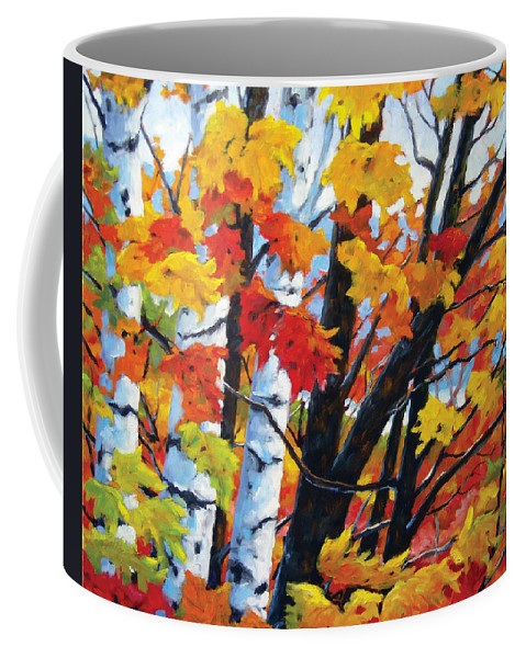 Art Coffee Mug featuring the painting A Touch Of Canada by Richard T Pranke