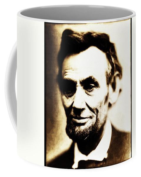 Abraham Lincoln Coffee Mug featuring the photograph Abe by Bill Cannon