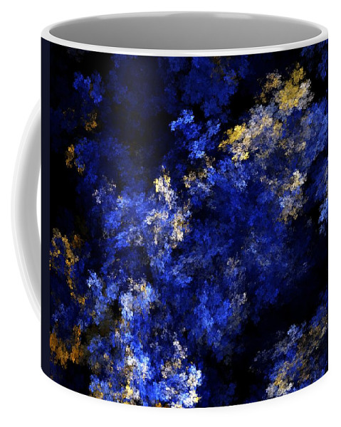 Abstract Digital Painting Coffee Mug featuring the digital art Abstract 11-18-09 by David Lane