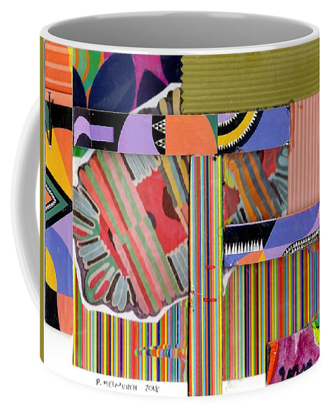 Abstract Art Coffee Mug featuring the drawing Abstract Collage by Paul Meinerth