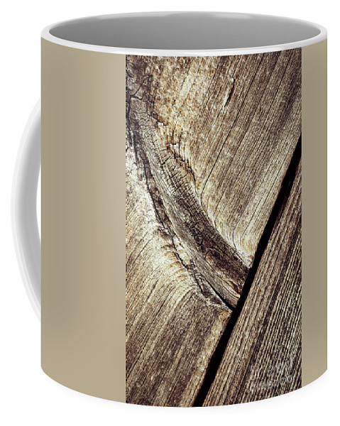 Old Coffee Mug featuring the photograph Abstract Detail Of A Wooden Old Board by Jozef Jankola