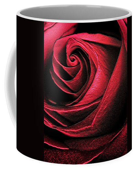 Abstract Coffee Mug featuring the photograph Abstract Rose by Marilyn Hunt