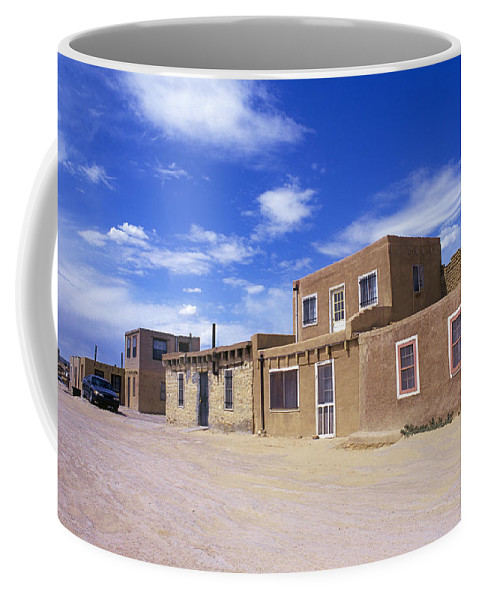 Traditional; Indian; Native; American; Pottery; Pots; Ceramics; Acoma; Indian; Pueblo; Reservation; Sky; City; New; Mexico Coffee Mug featuring the photograph Acoma Pueblo by Buddy Mays