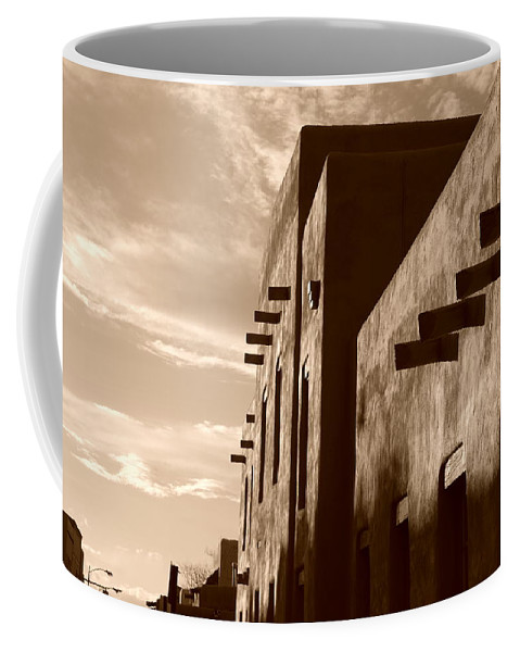 Architecture Coffee Mug featuring the photograph Adobe Sunset by Rob Hans