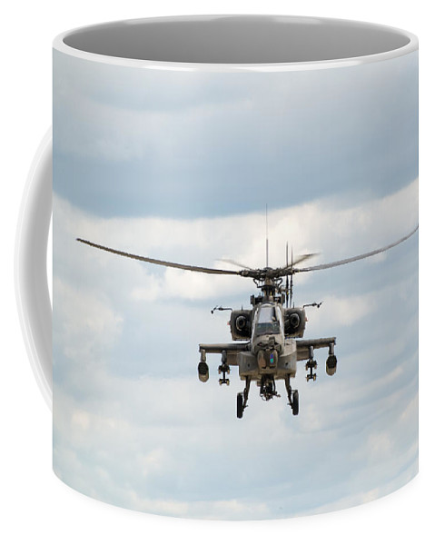 Helicopter Coffee Mug featuring the photograph Ah-64 Apache by Sebastian Musial