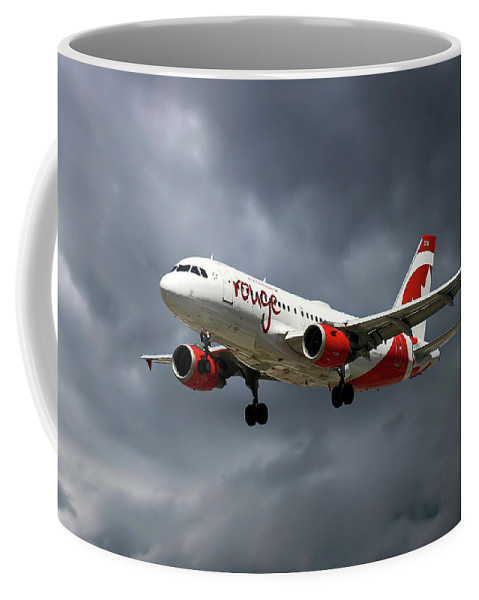 Air Canada Rouge Coffee Mug featuring the photograph Air Canada Rouge Airbus A319-114 by Smart Aviation