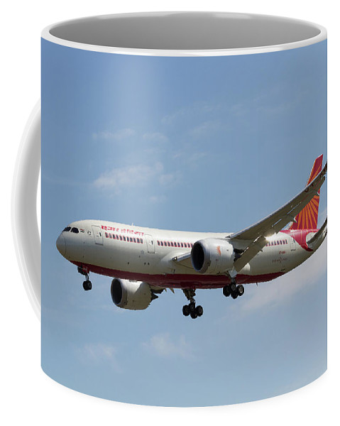 Indian Airlines Coffee Mug featuring the photograph Air India Boeing 787 by David Pyatt
