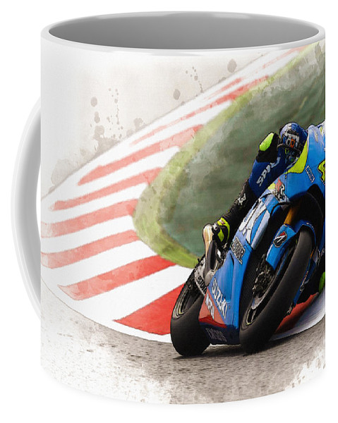 Formula 1 Coffee Mug featuring the digital art Aleix Espargaro by Don Kuing