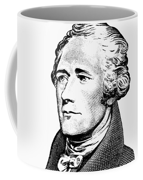 Alexander Hamilton Coffee Mug featuring the digital art Alexander Hamilton - Founding Father Graphic by War Is Hell Store