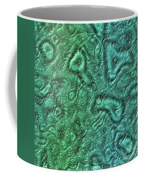 Alien Coffee Mug featuring the digital art Alien Skin by Miroslav Nemecek
