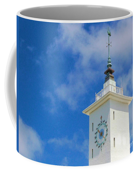 Clock Coffee Mug featuring the photograph All Along The Watchtower by Debbi Granruth