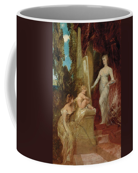 Hans Makart Coffee Mug featuring the painting Allegory Of Painting by Hans Makart