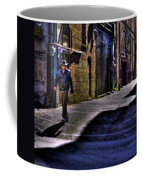Pioneer Square Coffee Mug featuring the photograph Alley Stroll by David Patterson