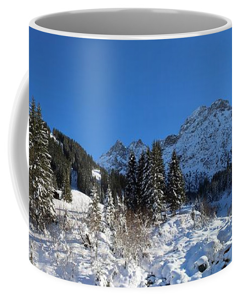 Mountain Coffee Mug featuring the photograph Alps by FL collection