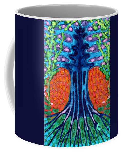 Colour Coffee Mug featuring the painting Always Young by Wojtek Kowalski