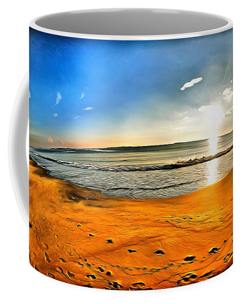 Puesta De Sol Coffee Mug featuring the digital art Amanecer by Galeria Trompiz