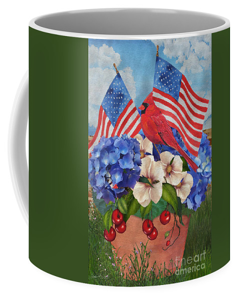 Digital Art Coffee Mug featuring the painting America The Beautiful-jp3210 by Jean Plout