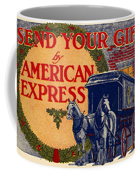 1917 Coffee Mug featuring the photograph American Express Shipping by Granger