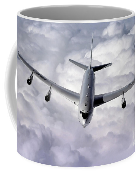 Horizontal Coffee Mug featuring the photograph An E-8c Joint Surveillance Target by Stocktrek Images