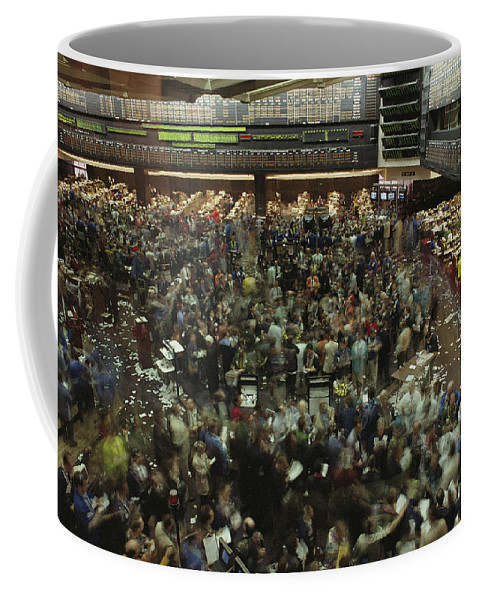 North America Coffee Mug featuring the photograph An Elevated View Of Traders by Michael S. Lewis