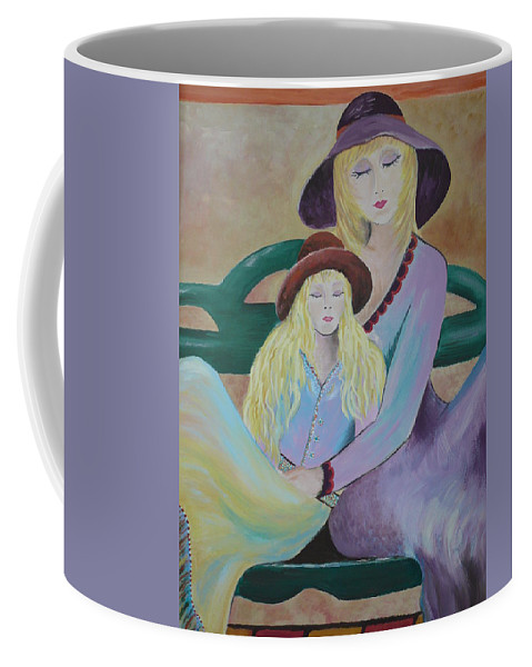 Mother/daughter Coffee Mug featuring the painting Angel Face by Kris Crollard