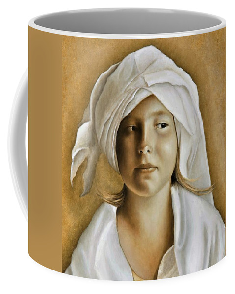 Portrait Coffee Mug featuring the painting Angelinn by Nanne Nyander