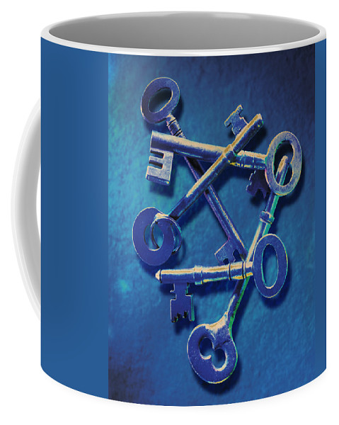 Antique Keys Coffee Mug featuring the photograph Antique Keys by Kelley King