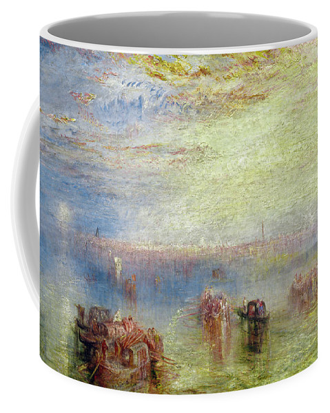 Joseph Mallord William Turner Coffee Mug featuring the painting Approach To Venice by Joseph Mallord William Turner