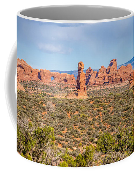 Park Coffee Mug featuring the photograph Arches National Park Moab Utah Usa by Alex Grichenko