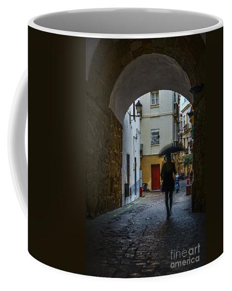 Andalucia Coffee Mug featuring the photograph Arco De Los Blanco Cadiz Spain by Pablo Avanzini