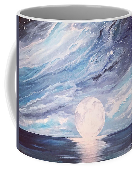 Space Coffee Mug featuring the painting Arctic Sky by Katie Slaby