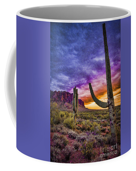 Arizona Sunset Coffee Mug featuring the photograph Arizona Sunset by Jon Berghoff
