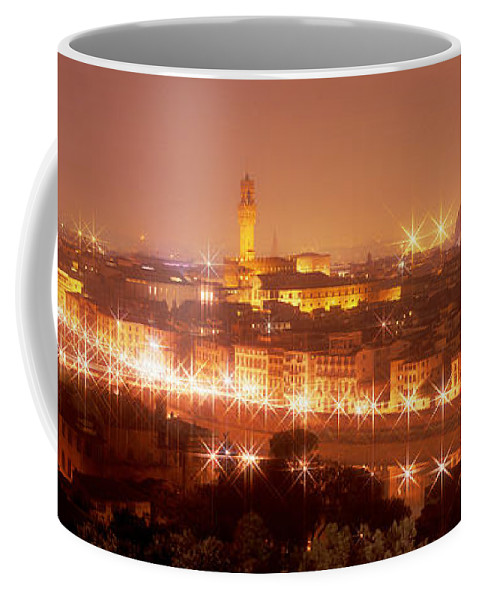 Photography Coffee Mug featuring the photograph Arno River Florence Italy by Panoramic Images