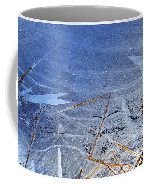 Ice Abstract Coffee Mug featuring the photograph At The Edge by Bill Morgenstern