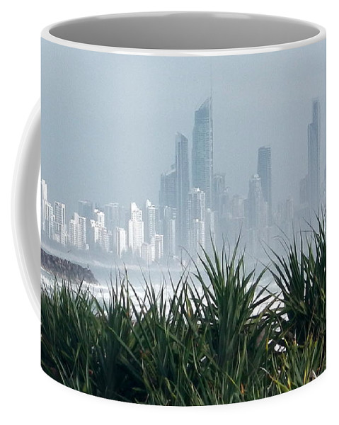 Australia Coffee Mug featuring the photograph Australia - Surf Mist Shrouds Our View by Jeffrey Shaw