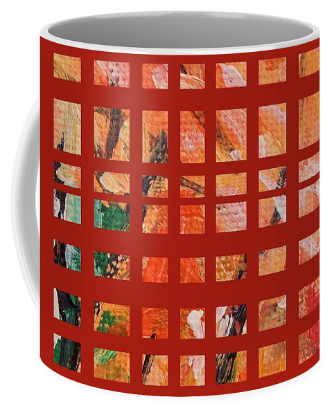 Autumn Coffee Mug featuring the painting Autumn Abstract by Eric Schiabor