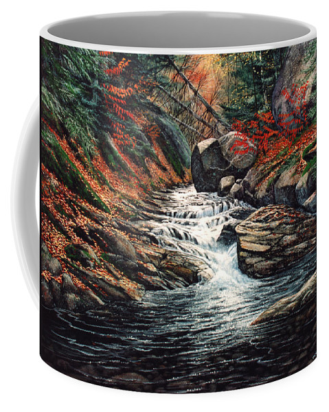 Landscape Coffee Mug featuring the painting Autumn Brook by Frank Wilson