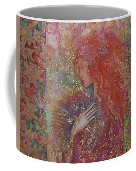 Silk Coffee Mug featuring the painting Autumn by Rita Fetisov