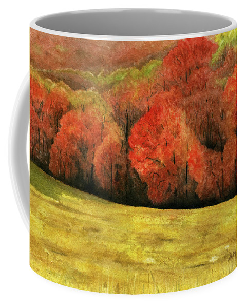 Autumn Coffee Mug featuring the painting Autumn Splendor by Mary Tuomi