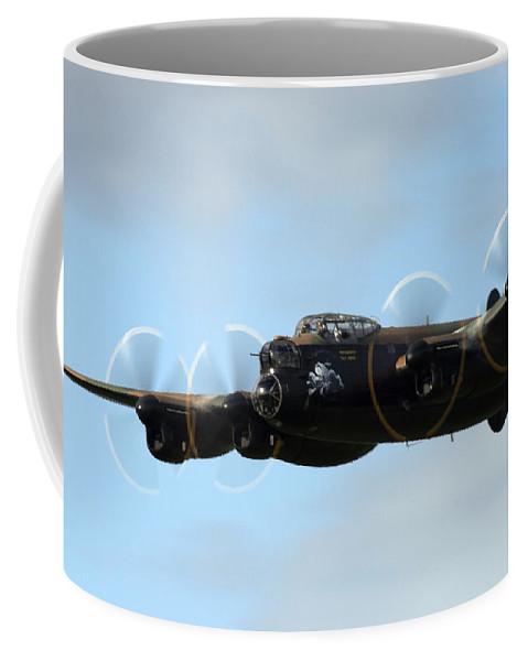 Lancaster Coffee Mug featuring the photograph Avro Lancaster by Angel Ciesniarska
