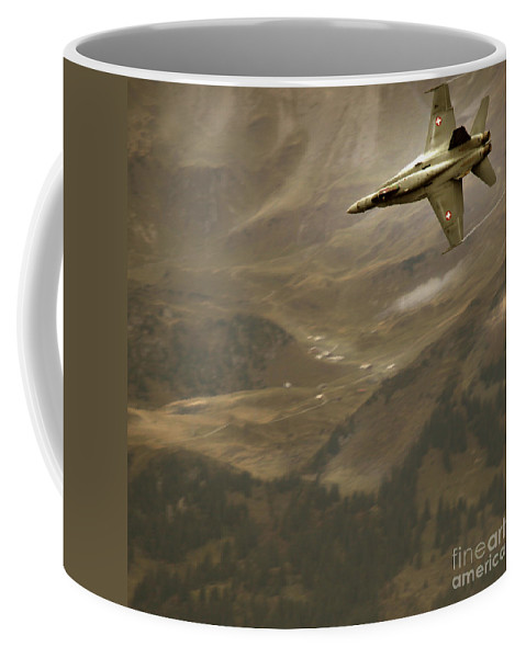 Axalp Coffee Mug featuring the photograph Axalp Airshow by Angel Tarantella